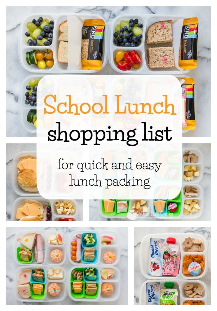 School lunch grocery list - what you need to have in your pantry and fridge for easy lunch packing.