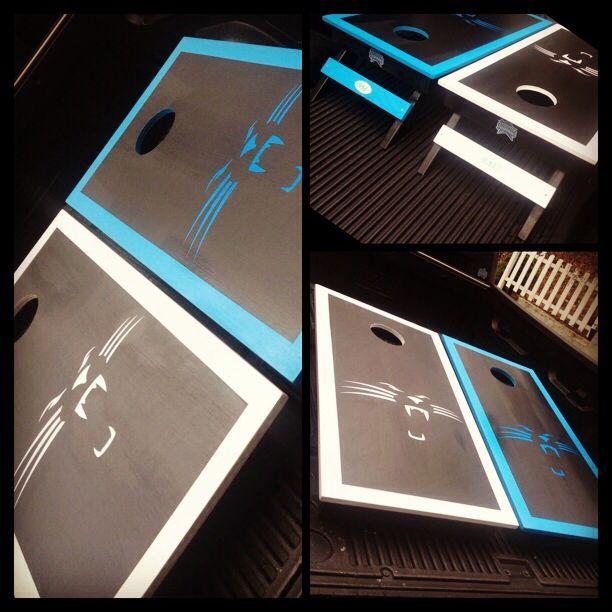A Carolina Panthers Cornhole Set Www Bklboards Com Cornhole