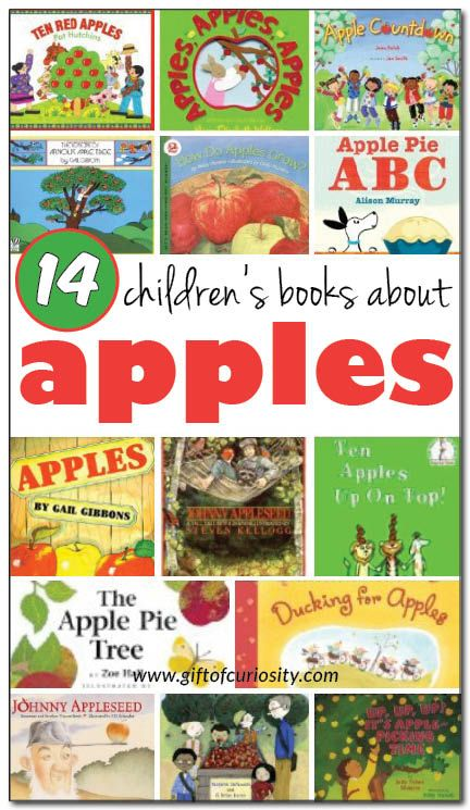 14 books about apples for kids - both fiction and non-fiction selections for kids ages 2-9 #apples #booklist || Gift of Curiosity: