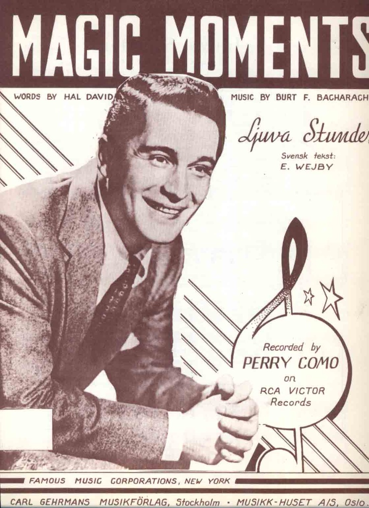 April 1958, Perry Como, Magic Moments.