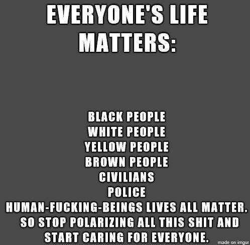 Lives Matter - Meme on Imgur