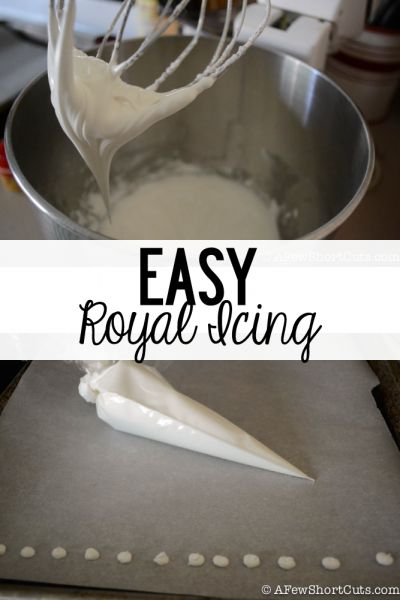 Decorating a gingerbread house but need royal icing? Check out this easy Royal Icing Recipe that you can make in about 5 minutes
