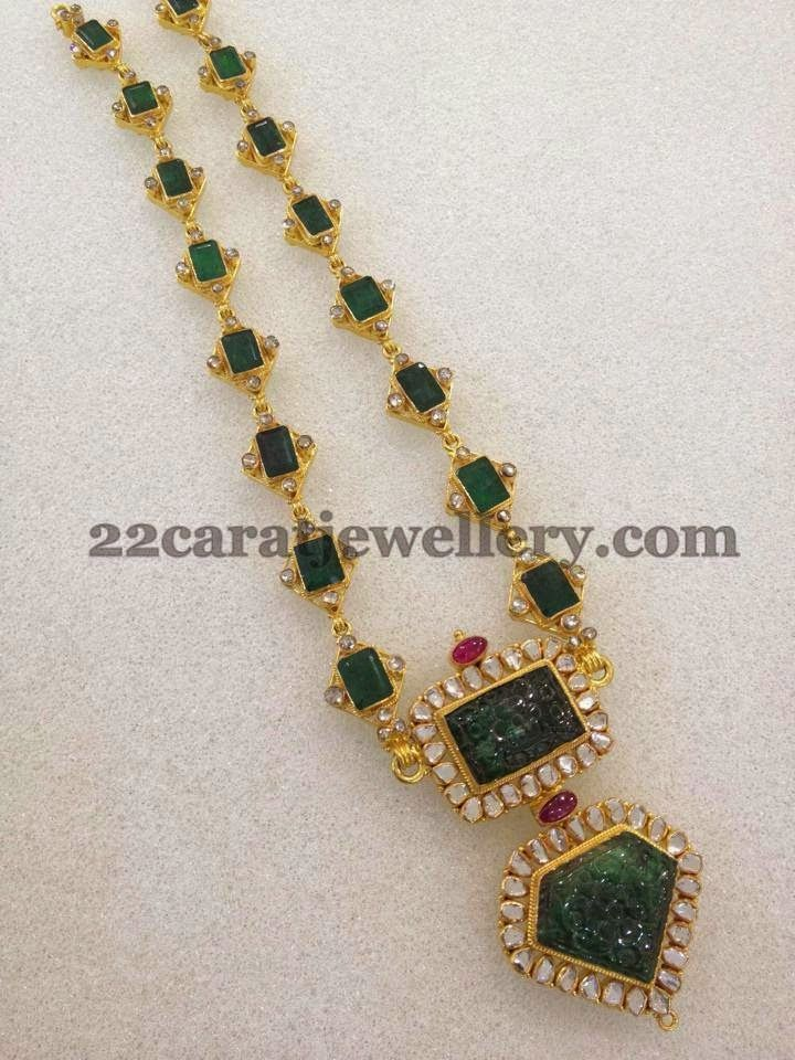 Jewellery Designs: Emeralds Haram with Invisible CZs