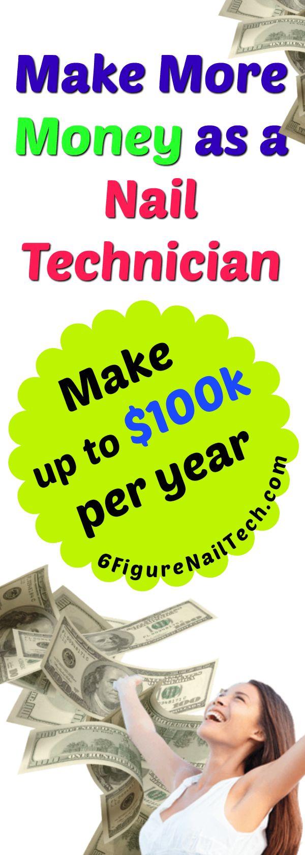 YASS! Make more MONEY as a nail technician. Nail Technician income tips | nail technician cours ...