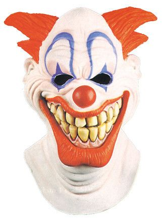 DIABOLICAL CLOWN Deluxe Full Over The Head Realistic Halloween MASK