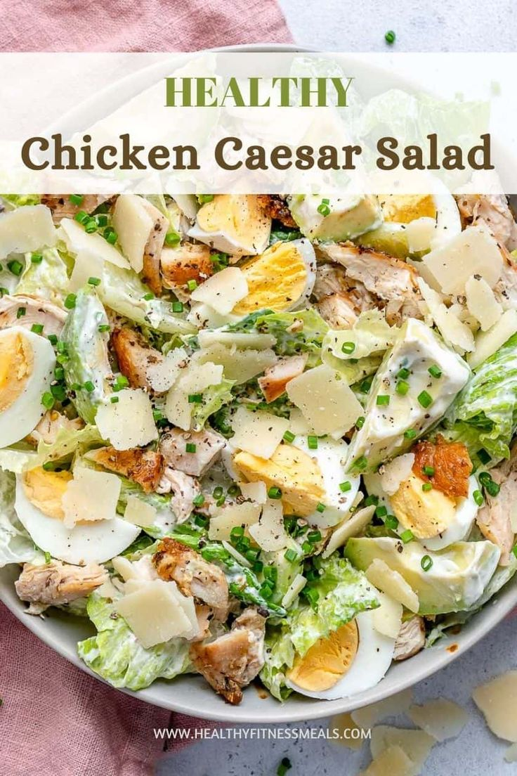 Chicken Caesar Salad Recipe in 2020 Healthy fitness