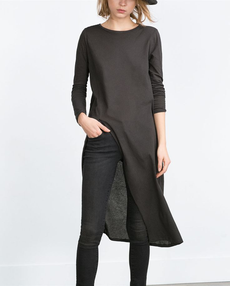 Image 3 of LONG TOP WITH VENT from Zara