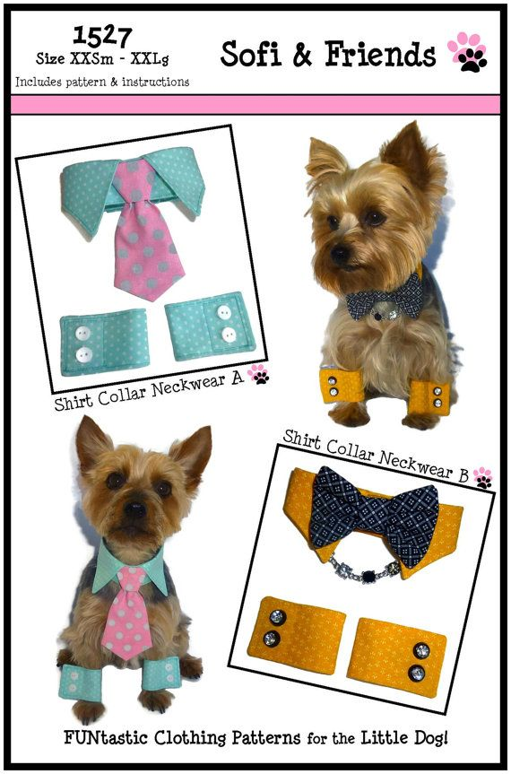 Dog Shirt Collar & Dog Cuff Pattern 1527 by SofiandFriends