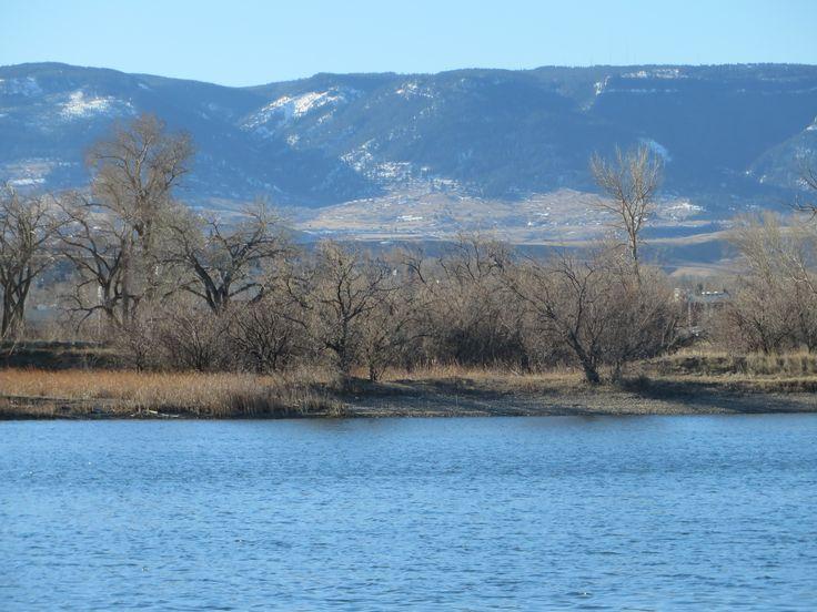 Pond at eastside dog park, Casper, Wyoming; Casper