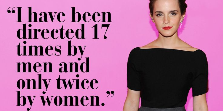 """I have experienced sexism in that I have been directed by male directors 17 times and only twice by women."""