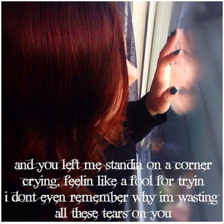 Cassadee Pope lyrics wasting all these tears