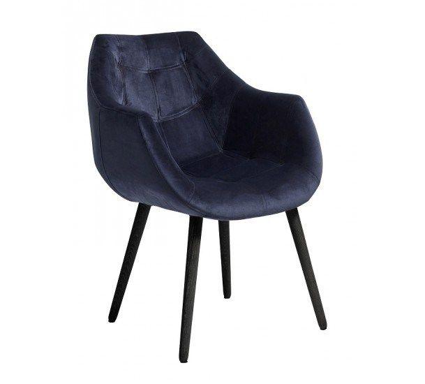 Nordal - Spisebordsstol m/armlæn - Blå
