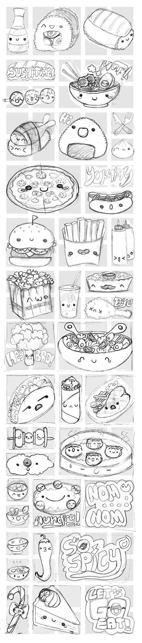 Viber's Kawaii Food Stickers