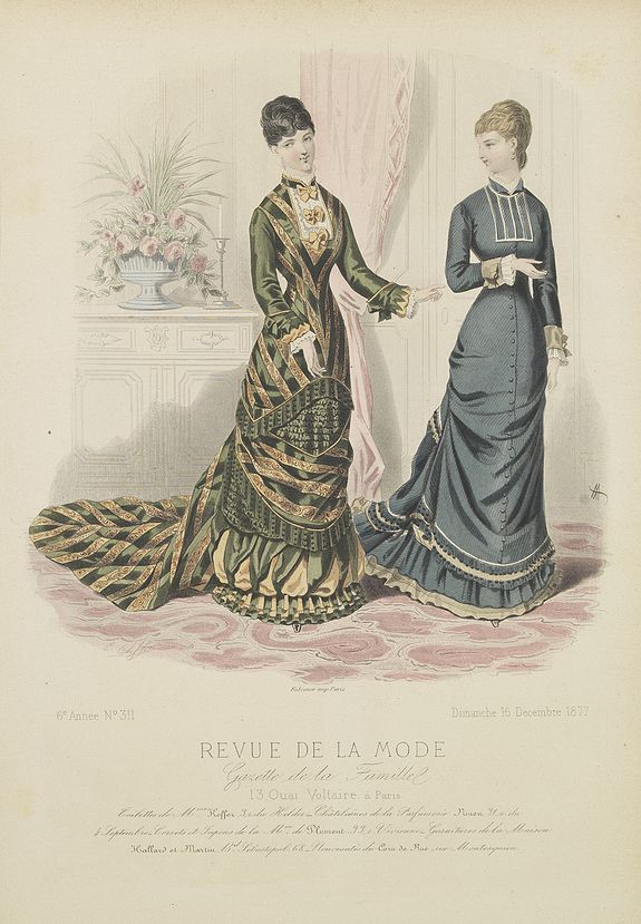 REVUE DE LA MODE - Paris fashion plate. 1877