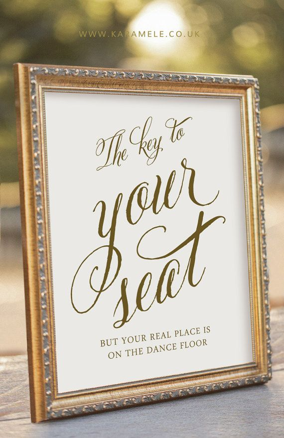 Key Wedding Sign  Please Find the Key to Your Seat by KarameleShop