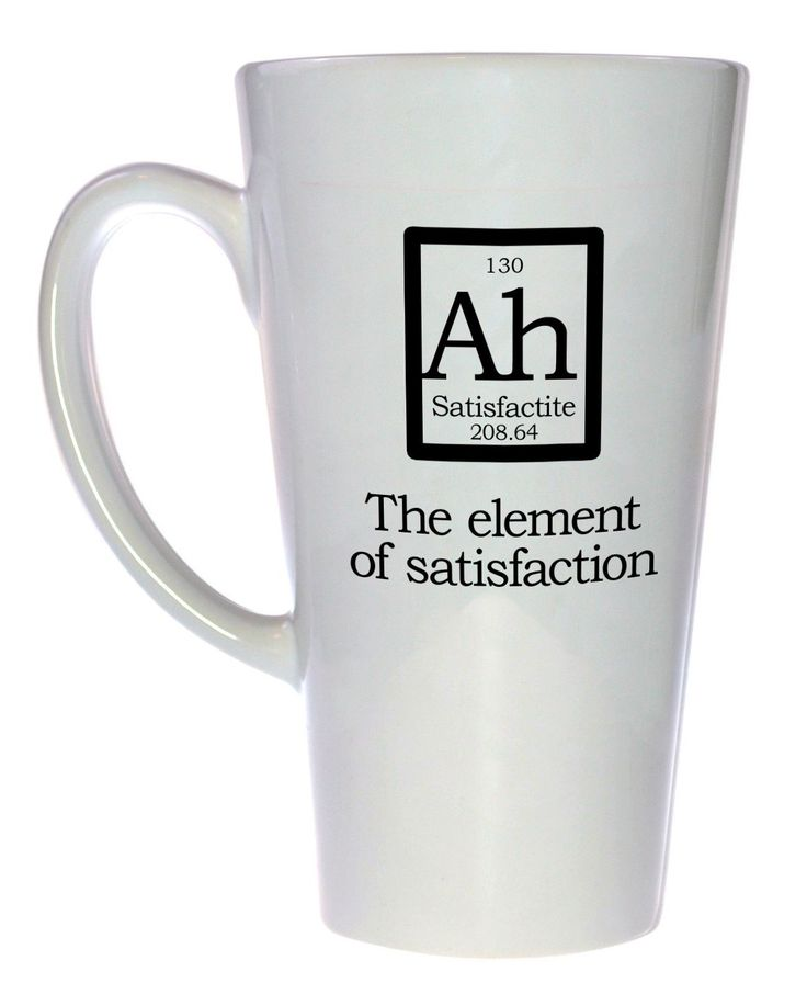 Element Ah - Fake Periodic Table Chemistry Elements, Latte Size