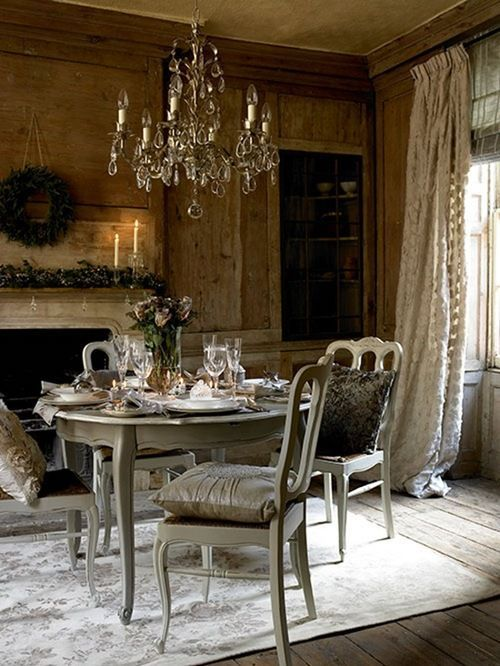 An Intimate Holiday Gathering Immersed in Rustic French Elegance!  See thefrenchinspiredroom.com