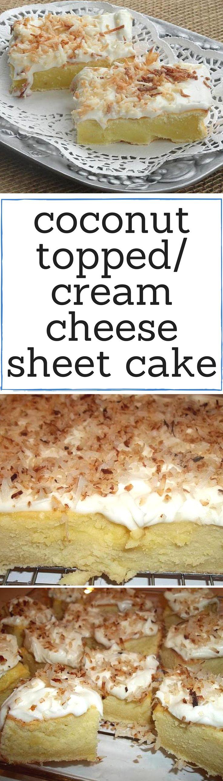 Recipe For Coconut Cream Cheese Sheet Cake