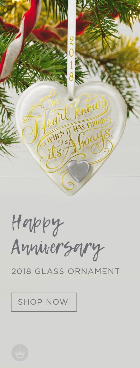 Hy Anniversary Heart 2018 Gl Ornament
