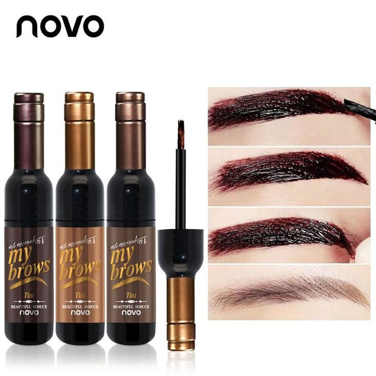 NOVO Eye Makeup Red Wine Peel Off Eye Brow Tattoo Tint Waterproof Long-lasting Dye Eyebrow Gel Cream Mascara Make Up Cosmetics #MakeupWakeup