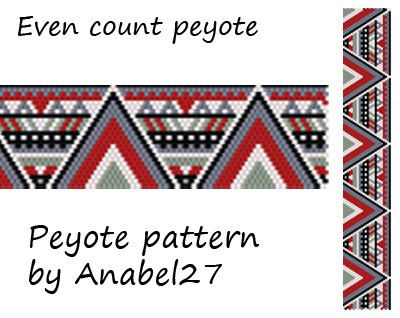 Colorful peyote pattern - ethnic style. Pattern made with size 11/0 Miyuki Delica seed beads Width: 1.22 (24 columns) Length: 7.4 Technique: Even Count Peyote Colors: 5 Pattern include: - Large colored numbered graph paper (and non-numbered in another files) - Bead legend (numbers and names of delica beads colors ) - Word chart - Pattern preview PLEASE NOTE: !!! PATTERN DOES NOT CONTAIN ANY INSTRUCTIONS OR MATERIALS !!! 1 PDF file: (Instant download, links are available once your pay...