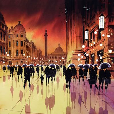 Shadows On The Square a limited edition print by Peter J Rodgers