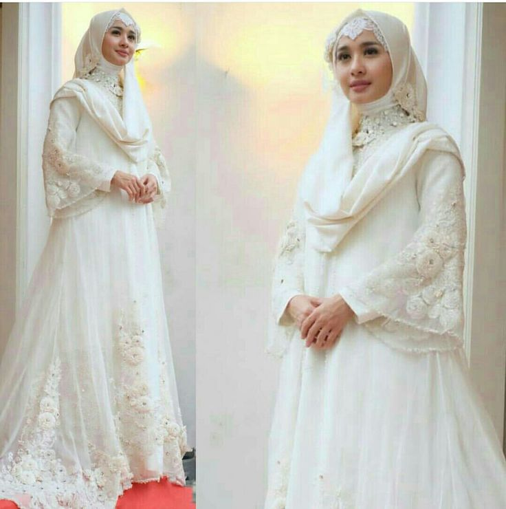 Gorgeous muslim wedding dress by ayudyahandari. This is my dream wedding dress 😍😍😍 #HijabiBride #MuslimWeddingDress #BeautifulBride #DreamWeddingDress #Hijab #Bridal