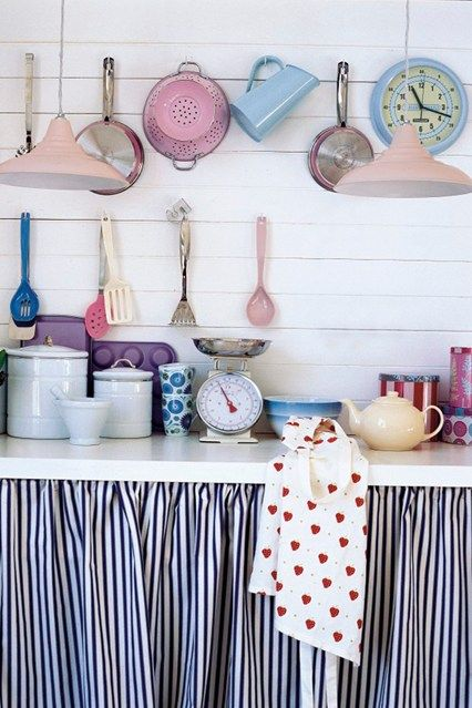 Kitchen Cabinet Curtains & Hooks - Quick DIY & Home Decorating Tips (EasyLiving.co.uk)