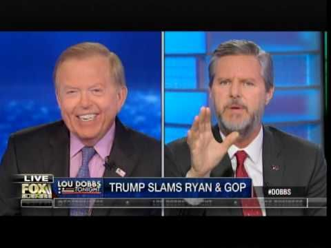 Liberty University President Jerry Falwell, Jr. told Lou Dobbs on Tuesday that he was tipped off about the GOP elites' plan to knock Trump out of the race.