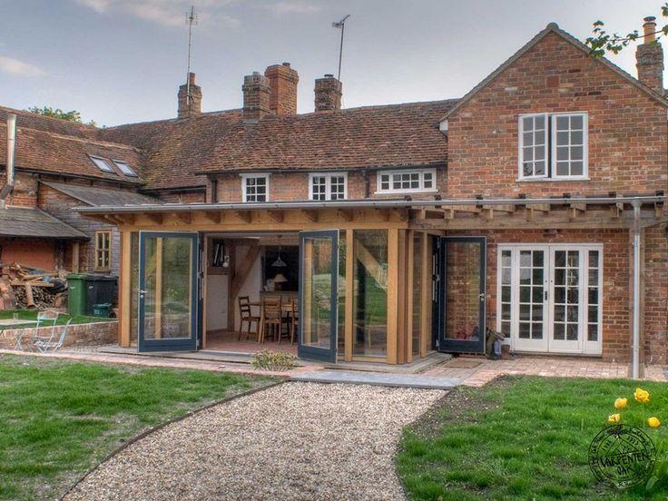 Douglas Fir Frame Open Pergola and Kitchen Extension