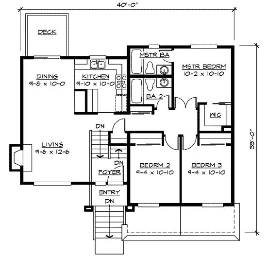 17 best images about split level on pinterest split for Split master bedroom floor plans