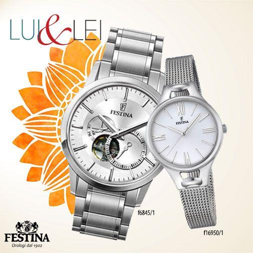 L'orologio automatico di Festina per lui, un orologio senza tempo per lei: una coppia elegante ma alla moda!