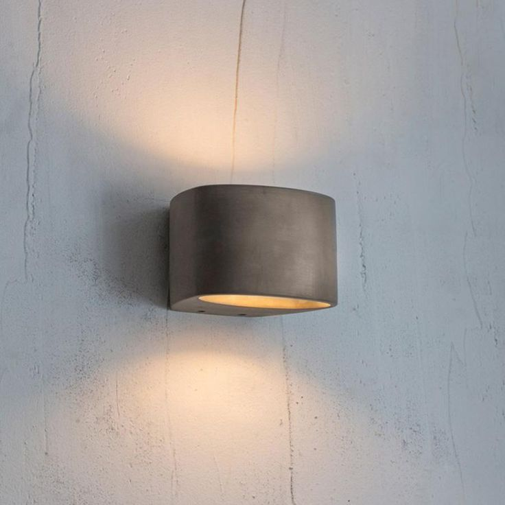 Lambeth LED Wall Light - Concrete from The Farthing