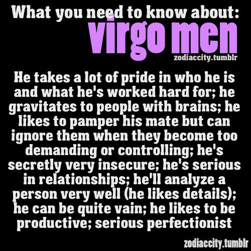 Zodiac City What you need to know about Virgo men