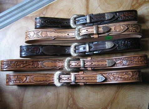 Leder, verziert Schlagen - Lederhandwerk | Gürtel / Gürtel