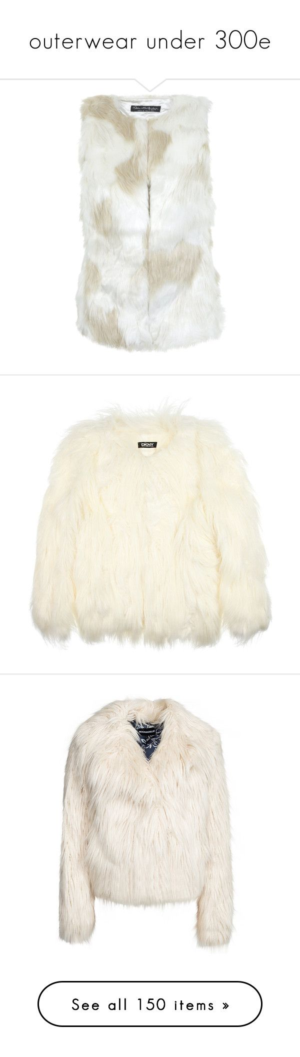 """""""outerwear under 300e"""" by evenaka ❤ liked on Polyvore featuring outerwear, vests, fur, white vest, faux fur waistcoat, white waistcoat, white faux fur vest, cream faux fur vest, jackets and coats"""