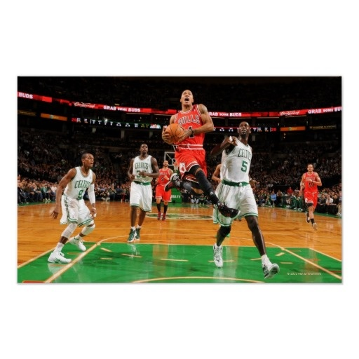 BOSTON, MA - JANUARY 13: Derrick Rose #1 of the 2 Print $11.75