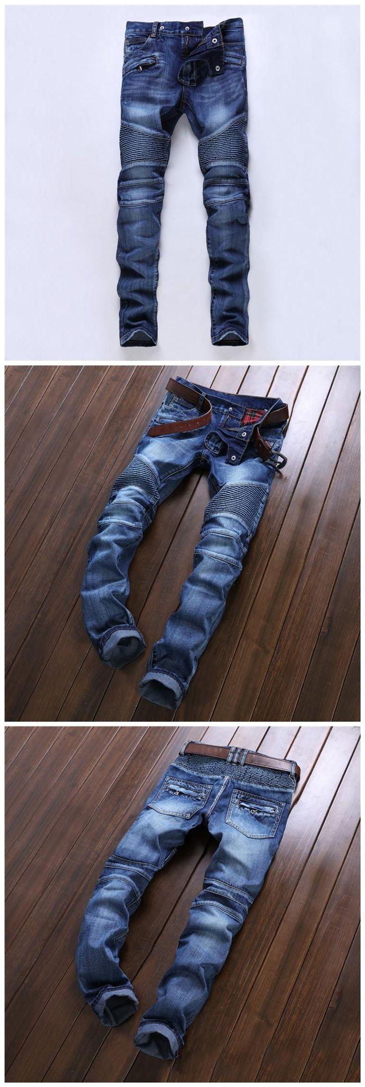 2016 Balmain Jeans Men 2016 Hot Mens Designer Jeans Famous Brand Balmain Jeans Men Distressed Jeans Ripped Denim Jn01 From Top_trading, $53.27 | Dhgate.Com