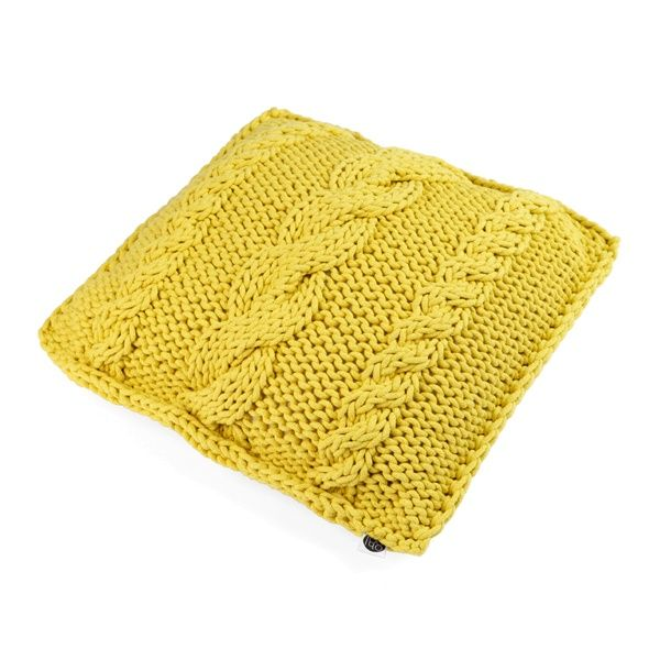 MUSTARD BRAID pillow - Ohoo!  Usage of knitted fabrics is a trend in interior design that has an unceasing popularity.
