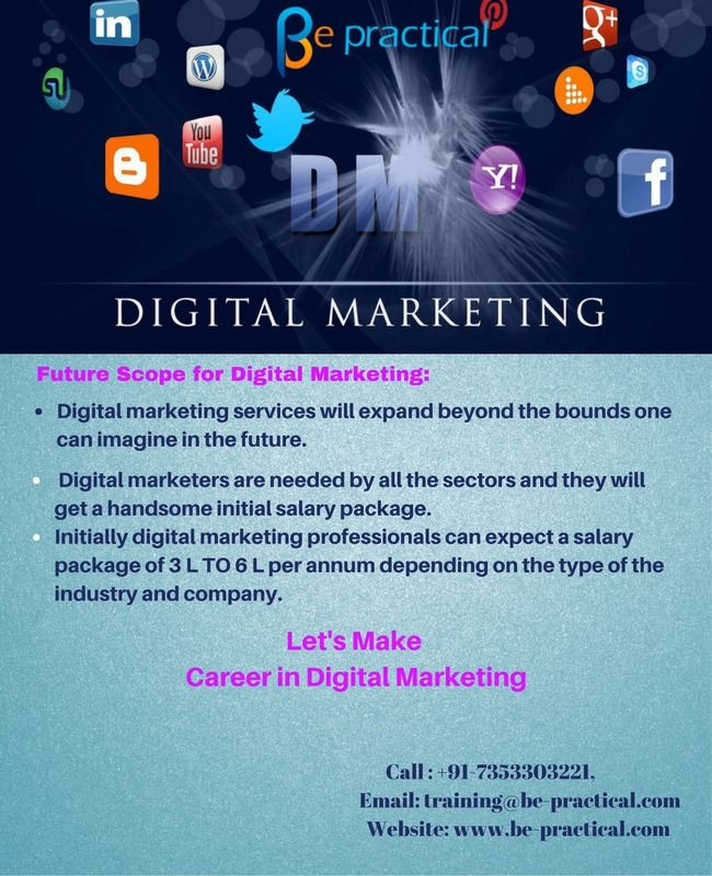 Join our comprehensive and industry relevant digital marketing course with excellent scope for shaping your career and achieving your dream job with handsome salary package. It is now or never! Join Now! Contact 7353303221 for further details https://goo.gl/3ur7Lm. #digitalmarketingtraining