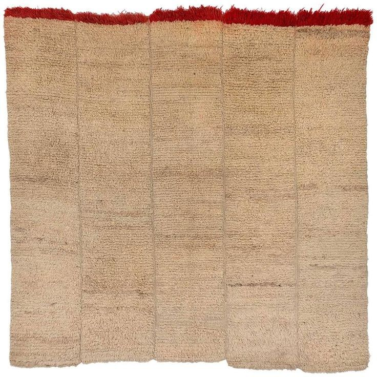 Vintage Tibetan Wool Nomadic Sleeping Blanket/Rug, circa 1950-1960 | From a unique collection of antique and modern central asian rugs at https://www.1stdibs.com/furniture/rugs-carpets/central-asian-rugs/