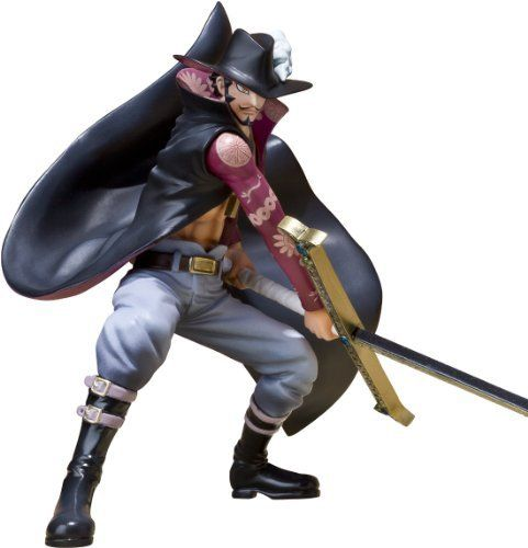 """Bandai Tamashii Nations """"Dracule Mihawk"""" One Piece - Figuarts Zero (Battle Version) by Bandai Tamashii Nations. $32.04. Interchangeable hand parts. Interchangeable head (hat/no hat). Special display stand. From the Manufacturer                Tamashii Nations is proud to introduce a new dynamic into the popular Figuarts ZERO line-up with Battle Versions of your favorite One Piece characters. The Figuarts ZERO Dracule Mihawk Battle Version figurine set will feature the and #34,..."""