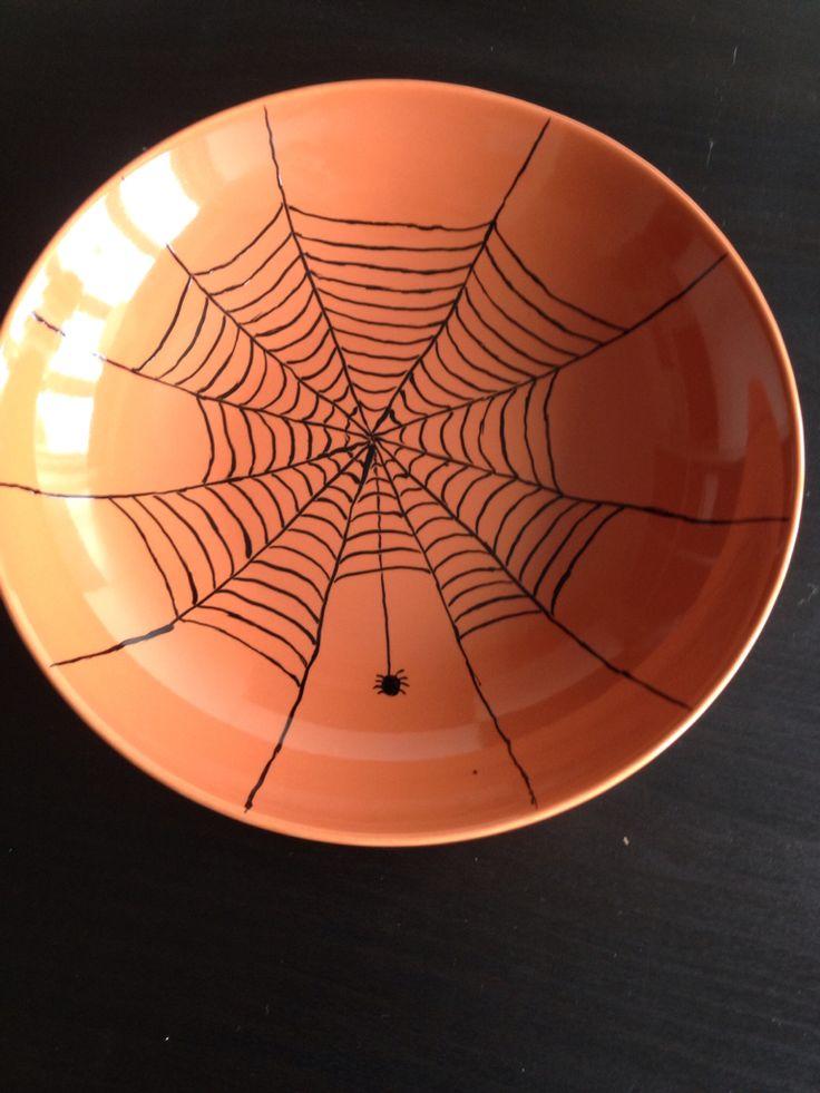 Endnu et edderkoppespind i en lidt større skål