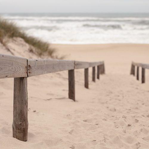 Beach near Aveiro, Portugal.