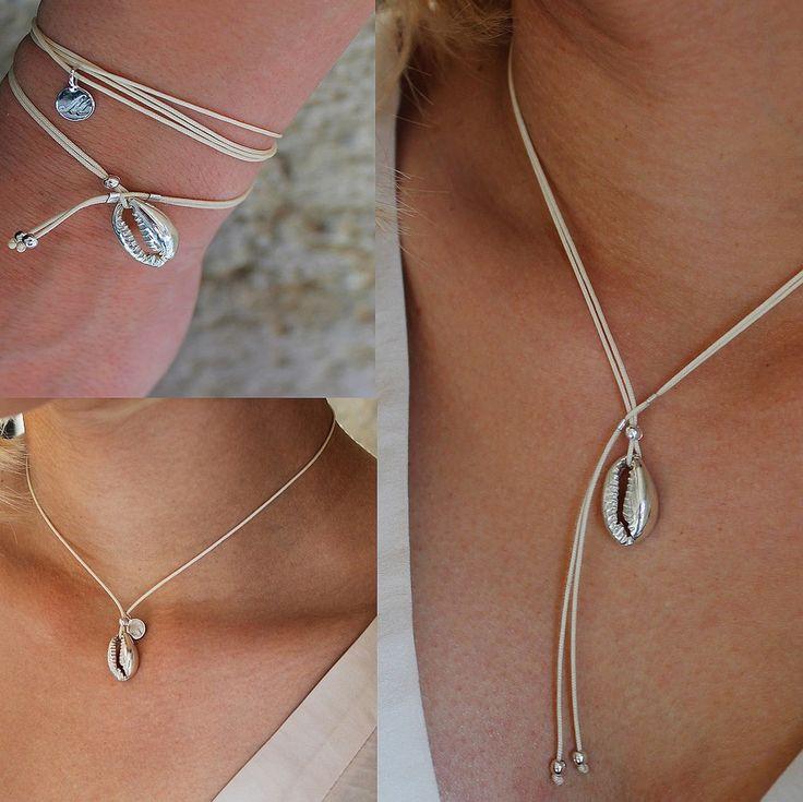 Bracelet Collier coquillage Maeva (4 en 1)