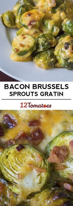 Bacon Brussels Sprouts Gratin - This low carb and keto dinner contains a range of delicious ingredients. With a combination of bacon, cheese, sprouts, garlic, and cream, you can be sure it tastes amazing.