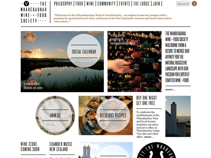 Top 10 Kentico Websites for June 2012 http://devnet.kentico.com/Blogs/Lenka-Navratilova/July-2012/Top-10-Kentico-Websites-for-June-2012.aspx Wharekauhau Wine & Food Society   Implemented by:  Federation Media, New Zealand  Kentico Gold Partner