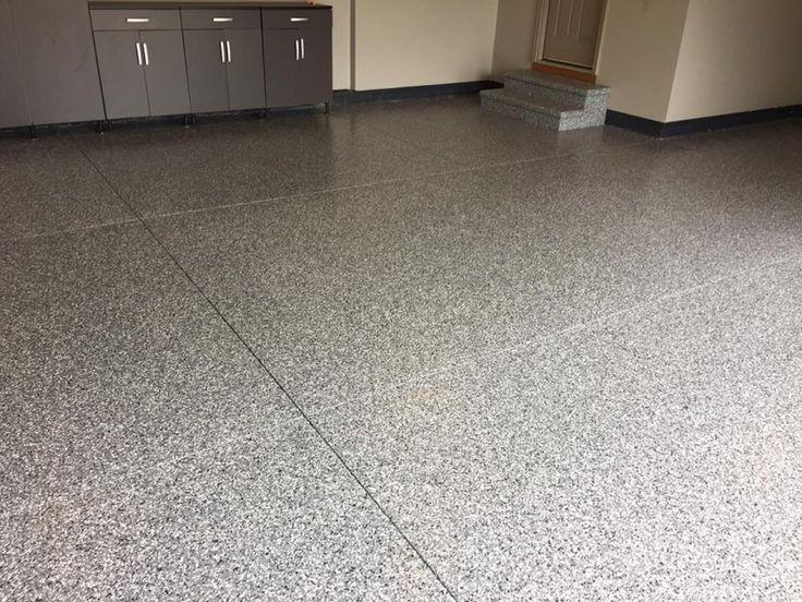 Oil Resistant And Decorative Epoxy Flake Garage Floor Coating In Findlay,  Ohio.