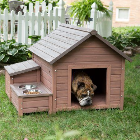 Free Shipping. Buy Boomer & George A-Frame Dog House with Food Bowl Tray and Storage Cubby at Walmart.com