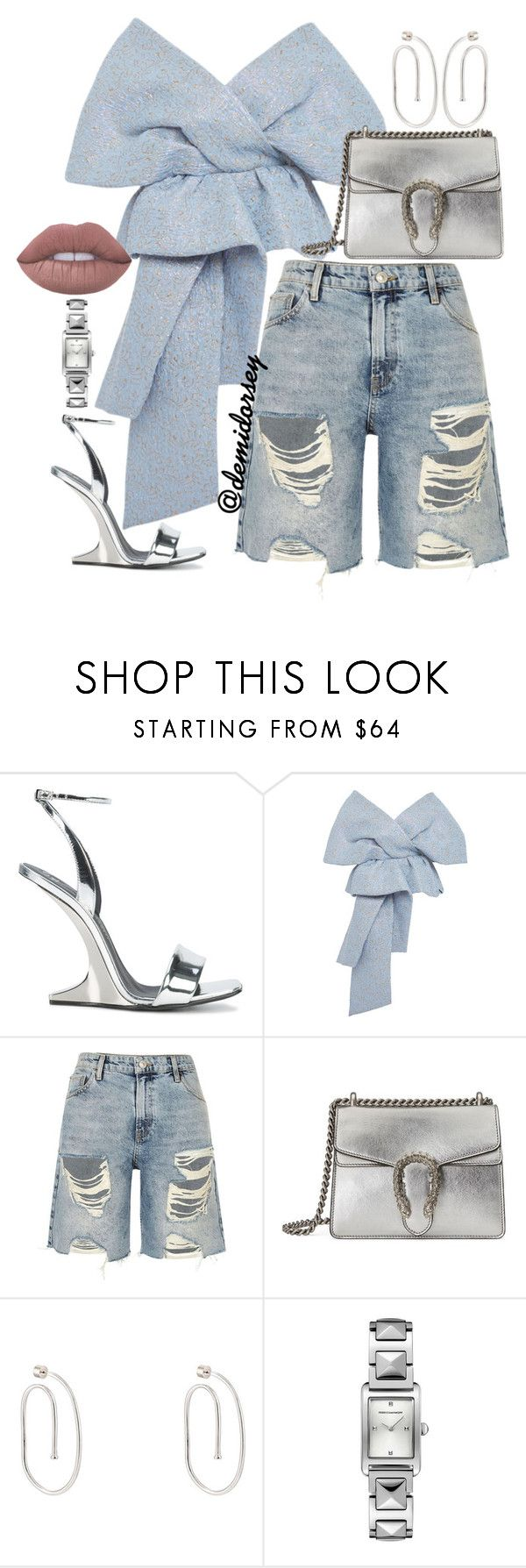 """Untitled #373"" by thedemidorsey ❤ liked on Polyvore featuring Giuseppe Zanotti, Delpozo, River Island, Gucci, Jennifer Fisher and Rebecca Minkoff"